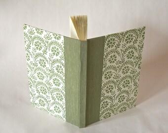 Address book large - sage fern stencil  print - 6x8.5 in 15x22cm - Ready to ship