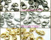 sale -10% / B122 / 60 Pc / 15 x 9 mm - Textured Lobster Clasp Findings