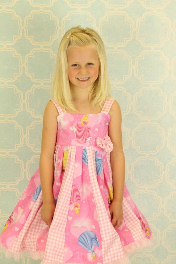 custom boutique dress made with princess fabric size 2-6