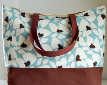 Helene Spa Blue XL Extra Large Beach Bag / BIG Tote Bag - Ready to Ship
