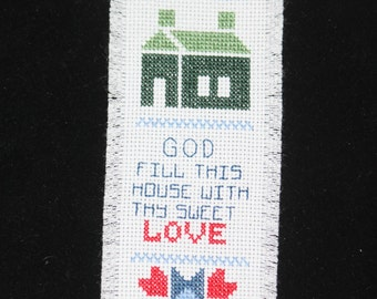 Counted Cross stitch bookmark. - original design