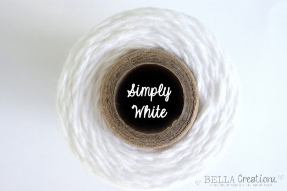 SALE - Simply White Twine by Timeless Twine - 1 Spool (160 Yards)