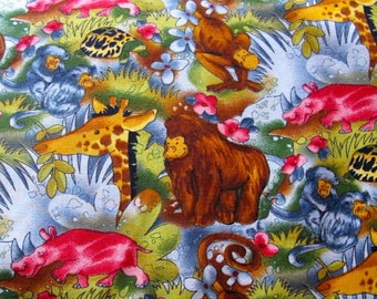 "Alexander Henry  –  fabric  ""Jungle Rhythm"" (4 dollars yard) 44 in wide"