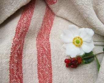 C 117 Grain Sack antique FADED RED pillow benchcushion 21.59 wide wedding decoration
