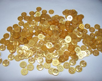 250 Small, Matching, Gold Colored Buttons, Lot SB-2  (Free US Shipping)
