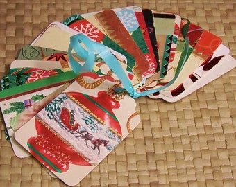 Upcycled Holiday Gift Tags - Christmas Ornaments