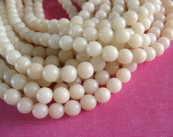 Natural beads 10 white  buri beads 10mm (PN201B)