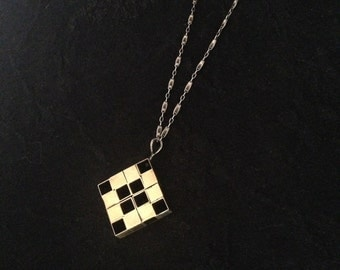 Brass Squares Necklace