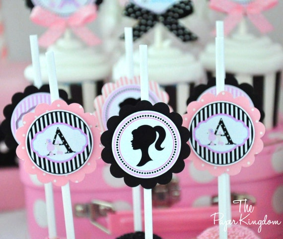 Cake Pop Tags Barbie Birthday Party Sucker Or Lollipop Tags