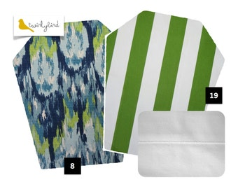 Reversible Mei Tai Carrier - Painted Hues and Green Stripes