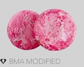 "7/8"" Acid Wash Pink Stone Plugs (22mm)"