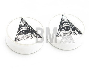 0g All Seeing Eye Plugs (8mm)