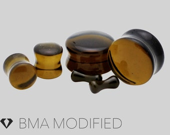 6g Translucent Black Glass Plugs (4mm)