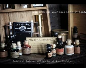 1/3 BJD Apothecary bottle set : Poison bottle set