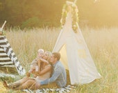 Kids Teepee Tent | BIG | Plain fabric tent and flags only