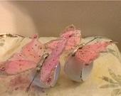 Butterfly Napkin Ring Holder, Shabby Chic Napkin Ring Holder - Set of 2