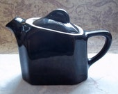 Vintage Black Hall China Slant Top Tea Pot