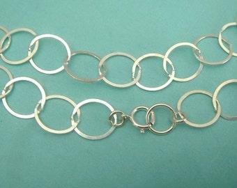 FINISHED Charm Bracelet Chain, Sterling Silver Flat Cable Bracelet Chain , COUPON SALE 10.5x9mm, Bulk Wholesale Chains