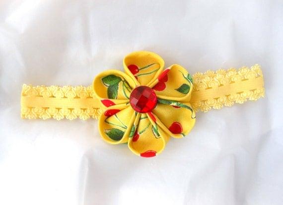 Kanzashi Flower Baby/Toddler Hairband