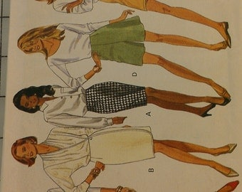 Easy Variations on Skirts and skorts multi size Butterick 6287