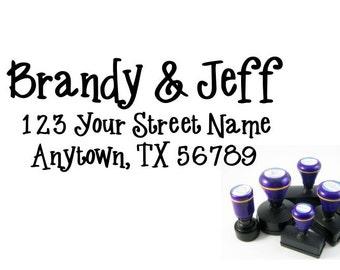 Personalized Self Inking Return Address Stamp - self inking address stamp - Custom Rubber Stamp R170