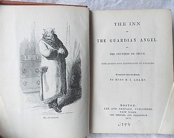 1871 Inn of the Guardian Angel, Countess De Segur,  Foulquier Ill., Humorous Novel Engl. Tr.