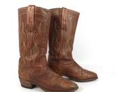 Frye Campus Boots Vintage 1970s  Brown Leather Men's size 10 D