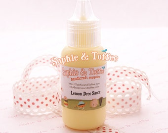 Fake Deco Sauce / Dripping Sauce / Decoden Acrylic Paint 22ml / Lemon Deco Sauce