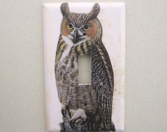 Single Owl light switch cover switch plate