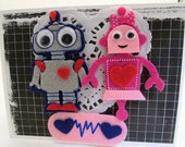 Robot Love Valentine's Day Card Eco Friendly