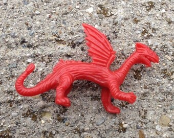 1960s UK Nabisco Dragon 2 Plastic Figure LONG GREEK