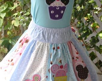 Disney Minnie Cupcake Treat Skirt Set Ready to Ship