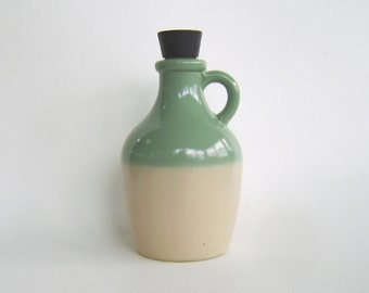 Vintage Avon Bay Rum Cologne Bottle Jug Seafoam Green