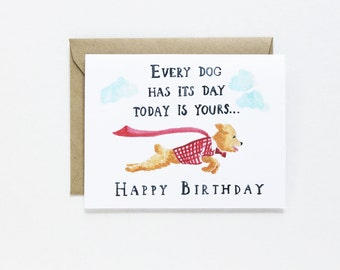 Birthday Card - Every Dogs Day