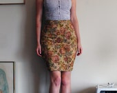 Knit Tapestry Skirt size XS 0/2 Stretch Pencil Skirt