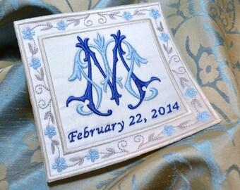 SOMETHING BLUE - WEDDING Gown Label - Bridal - Shower - Monogram