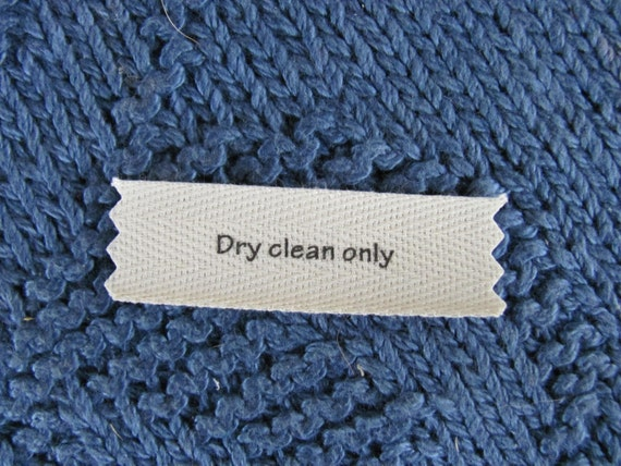 Knitting/Crochet Care Labels- Dry Clean Only