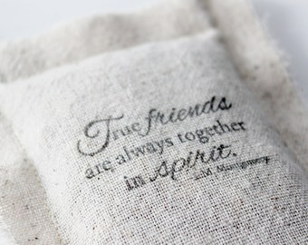True Friends Ornament, Best Friend Long Distance Gift, Anne of Green Gables Quote