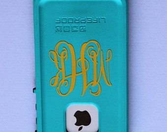 Cell Phone Decal - Monogram - Sticker - Cell Phone Monogram - Cell Phone Sticker - Personalized Cell Phone