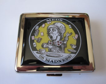 Alice In Wonderland Mad Hatter 8 Day Pill Box