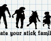 Custom zombie family decal for tmorton528