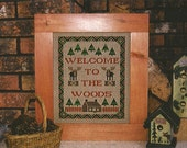 Cross Stitch Pattern / Moose Sampler / Welcome To The Woods