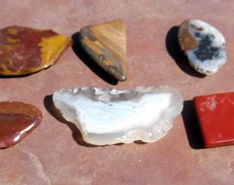 Set of 6 Agate Stone Magnets