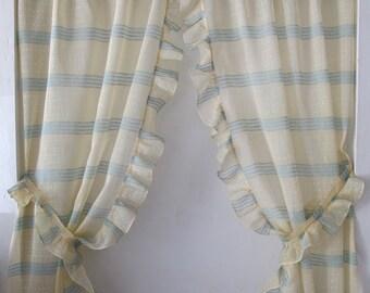 green yellow sheers ruffle d tieback pricilla curtains kitchen curtain