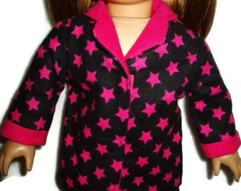 Hot Pink Star Pajamas PJs 18 inch Doll Clothes Fits American Girl Dolls  Item 133