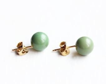 Green Ball Studs