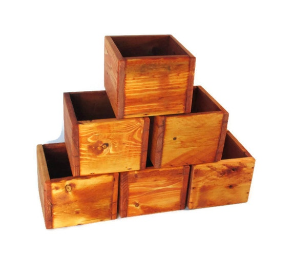 Wedding decor lot of small centerpiece boxes wood