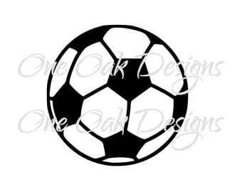 Soccer Ball SVG file, DXF, PDF, ai, eps, png, jpg, svg file for  Cameo V2 & V3, svg file for, Cricut and other electronic cutters