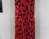 Fabulous Betsey Johnson Floral Rose Print Dress Size S
