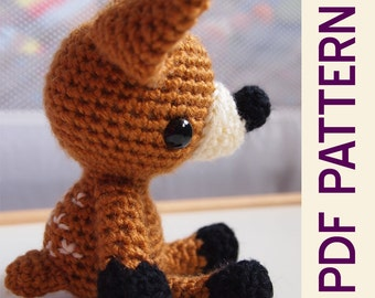 Amigurumi Crochet Woodland Forest Fawn Baby Deer Toy Doll PDF Pattern